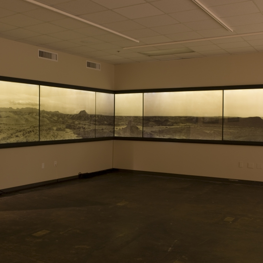 <p><em>Big Bend Panorama</em> , Archival Inket Print, installation View 4' x 35'</p>