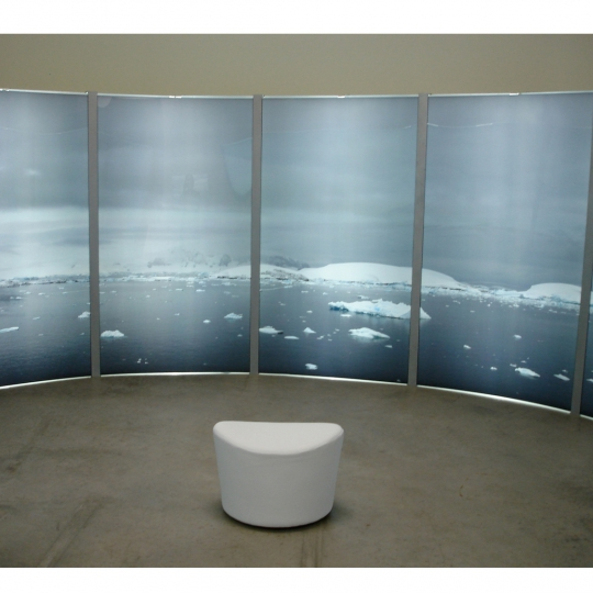 <p><em>Antarctica 360</em>. Installation with LED Panels, 7'x'52' 2007</p>