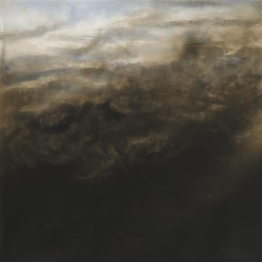 <p><em>Pond Relection, Round Top</em>.Gelatin Silver Print, Sepia Toned, hand painted. 14</p>