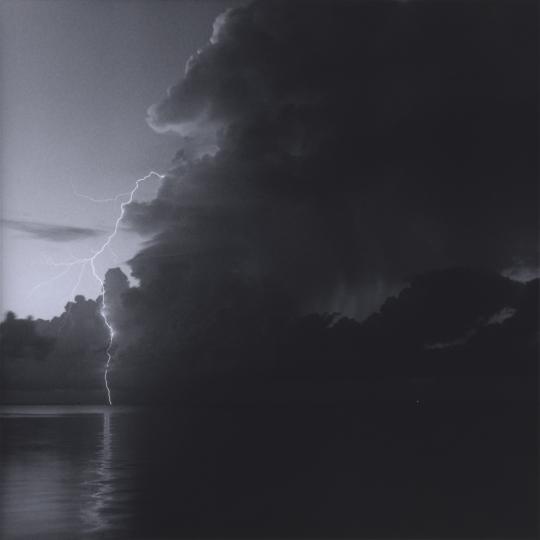 <p><em>Lightning Storm, Kemah</em>, Gelatin Silver Print, Gold Toned. 13</p>