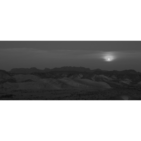 "<p><em>Chisos Mountains</em>, Archival Inkjet print,  6"" x 13""  2009. </p>"