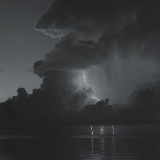 <p><em>Lightning Storm, Kemah</em>, Gelatin Silver Print, Gold Toned. 12</p>