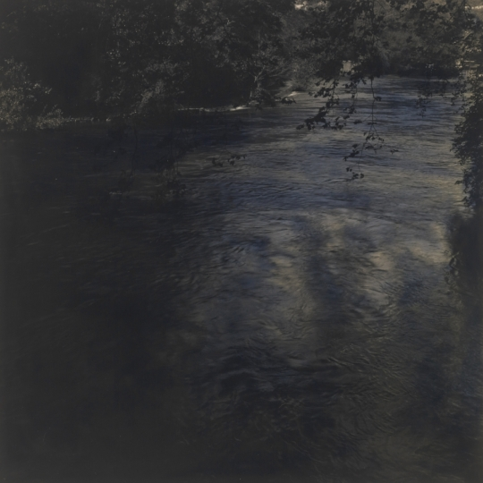<p><em>Fontaine du Vaucluse</em>, Gelatin Silver Print, Sepia Toned, hand painted. 12</p>