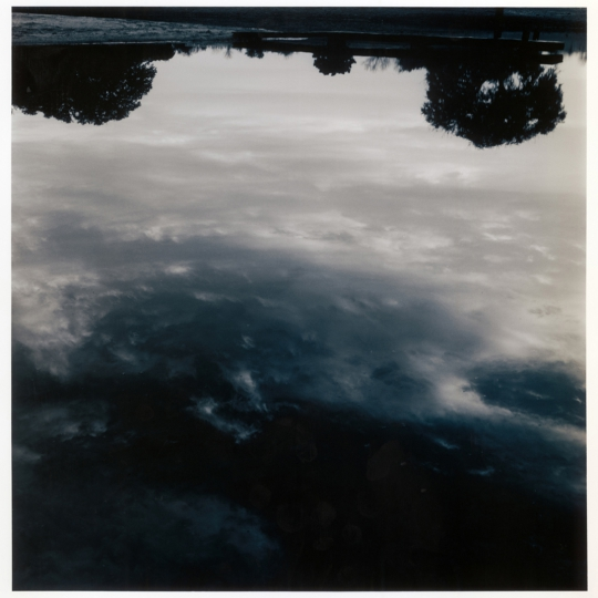 "<p><em>Sky on Water</em>, Silver Gelatin Print, Toned. 9"" x 9"" &nbsp;2010</p>"
