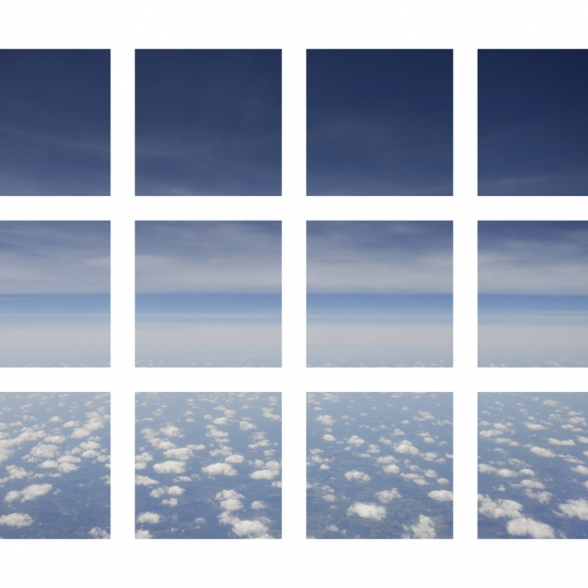 <p><em>Sky </em> Archival Inkjet Print, Facemounted to Plexiglass. </p><p>8'x10'.  2010.</p>